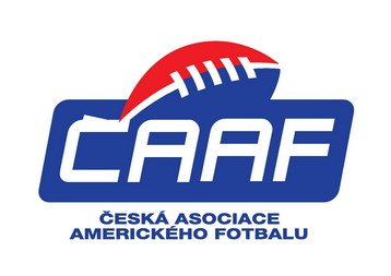 Czech Association of American Football (CAAF) logo.